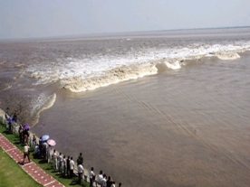 World's largest tidal bore. Handy hint; don't Google this. The results are terrifying.