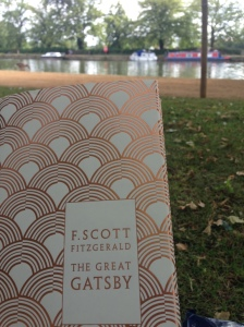 Reading my favourite book in Christchurch meadow